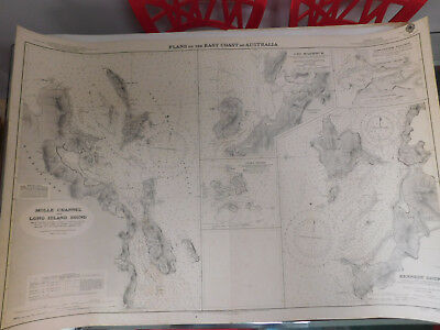 NAUTICAL CHART MOLLE CHANNEL AND LONG ISLAND SOUND QLD No. 498 - 1937