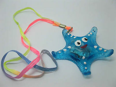 36X New Flashing Crystal Sea Star Necklace Mixed