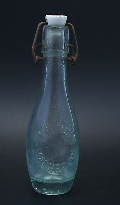Ancienne bouteille limonade soda A.FOURE Machecoul french antique glass bottle