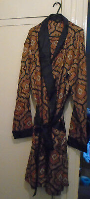 GENTS ST MICHAEL TRICEL VINTAGE 1960S PAISLEY PATTERN DRESSING GOWN CHEST 46 in