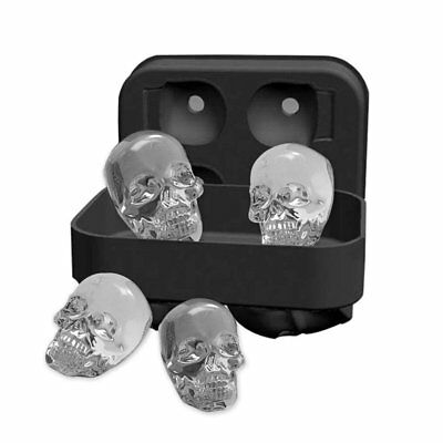 Halloween Silicone 3D Ice Ball Cube Tray Skull Shape Mold Chocolate Baking Tool