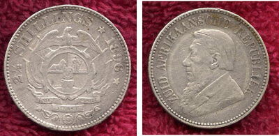 1896 Silver Half Crown from South Africa