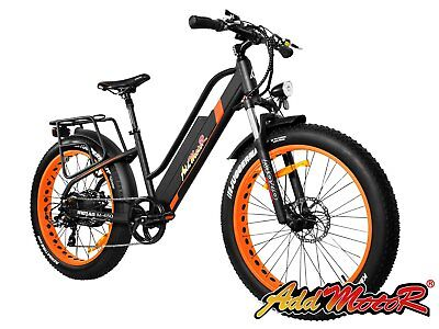 Addmotor MOTAN Electric Bicycle Women Fat Tire E-bike Full Suspension Bikes M450