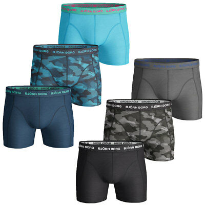 Bjorn Borg 2017 Mens BB Camoline Sammy 3-Pack Soft Cotton Stretch Boxer Briefs