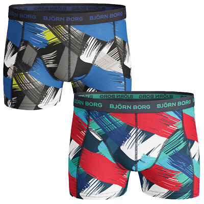 Bjorn Borg Mens 2017 BB Wild Style Mike Mid Soft Cotton Stretch Boxer Briefs