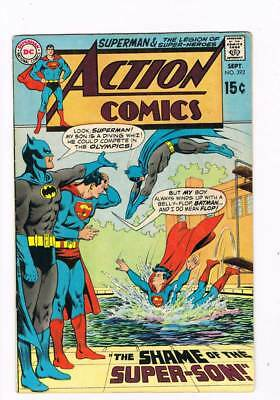 Action Comics # 392 the Shame of the Super-Son ! grade 6.0 scarce book !!