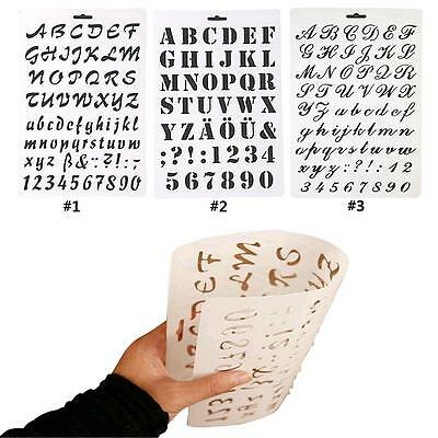 Letter Alphabet Number Scrapbooking Paper Cards Layering Stencils Painting BS