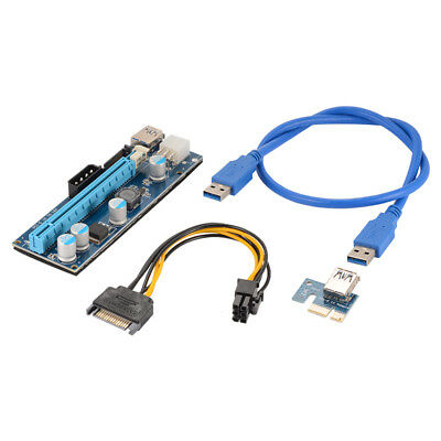 PCI-E Express 1x To 16x USB 3.0 Extender Riser Card Adapter Powered Cable AC914