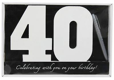 Wooden Birthday Signature Plaque ~ Happy 40Th Birthday Gift