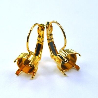 39ss Empty Cup Chain 8mm Leverback Earrings, Gold Plated