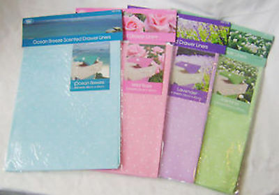 NEW 4 SCENTED DRAWER LINERS LAVENDER ROSE OCEAN BREEZE or JASMINE SPOTTY DGI