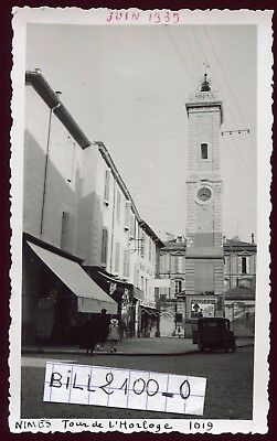 Nimes . photo ancienne . Tour de l'Horloge . Juin 1939