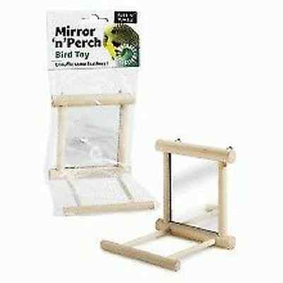 Ruff N Tumble Mirror N Perch Bird Toy Budgie Canary
