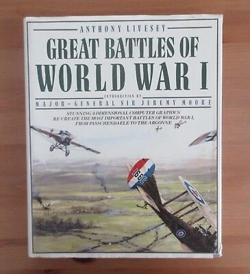 big WW1 BATTLES PHOTO BOOK livesey