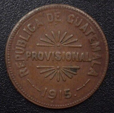 Guatemala 1915 25 Centavos - Km#231, Y# 90 - About Uncirculated