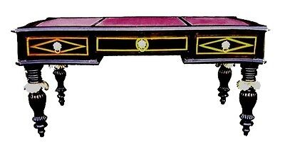 HUGE Napoleon 1st Imperial style leather top desk