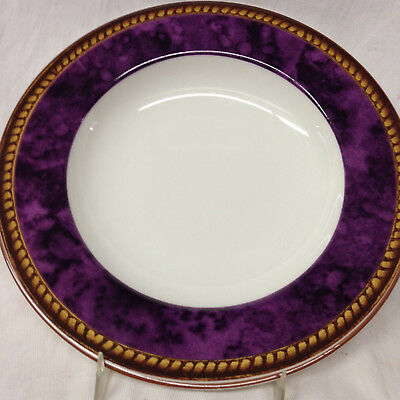 "Block Vintage Amethyst Rim Soup Bowl 9"" Raymond Waites Purple Marbled Band"