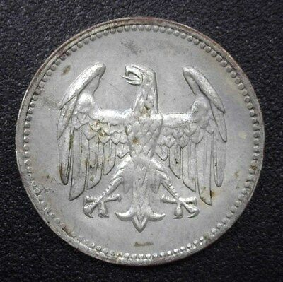 Germany 1924-A Silver Mark Nearly Uncirculated  Km#42
