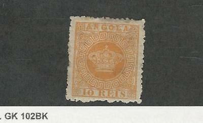 Angola, Postage Stamp, #2 Mint Hinged (P.A.), 1870 Portugal Colony