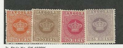 Angola, Postage Stamp, #8-9, 11-12 Mint Hinged, 1877-85 Portugal Colony