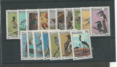 Botswana, Postage Stamp, #198-214 Mint Hinged, 1978 Birds