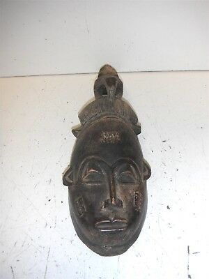 Decorative Carved Wooden Mask Wall Hanging