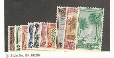 Cook Islands, Postage Stamp, #131-140 Mint LH, 1949