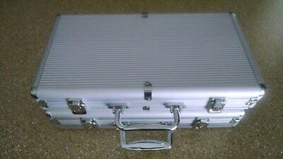 Aluminum Poker Chip Cases *lot Of Two* Each Holds 300 Chips & Two Decks Of Cards