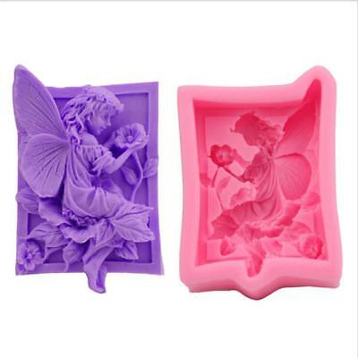 3D Fairy Silicone Cake Mould Cupcake Fondant Tool Angel Girl Elf Mold New C