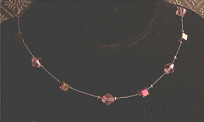 Copper Tone Glass & Metal Bead Necklace - Fashion Jewelry - Costume Jewelry