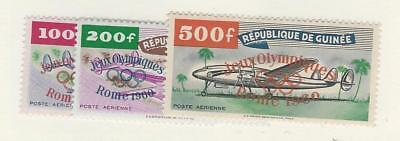 Guinea, Postage Stamp, #C24-C26 VF Mint NH, 1960 Airplanes, Olympics