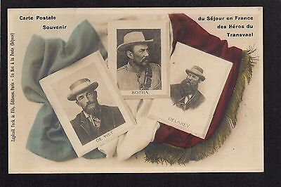 Boer War - Heroes of the Transval - colour printed postcard