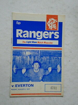 Rangers v Everton 1971/72 Friendly