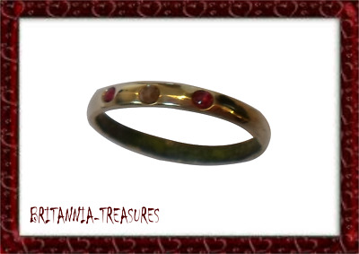 A GENUINE, 13th-15th CENTURY MEDIEVAL WEDDING RING WITH REAL DIAMOND AND RUBY.
