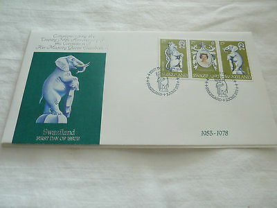 Swaziland 1978 Cover Fdc Elephant With Info Card   Rs