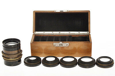 Set of old and strange unmarked brass lens ca.1900, similar to Busch's Vademecum