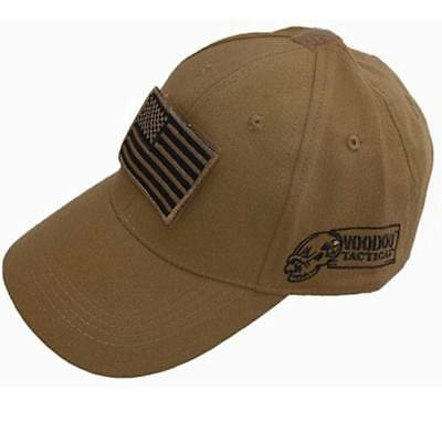 Voodoo Tactical 20-935107000 OSFA Coyote Cap w/ Removeable Patch