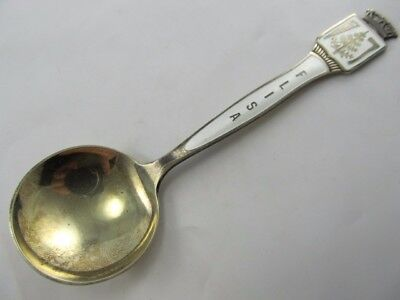 Th Marthinsen Enameled Flisa Sterling Spoon Excellent Condition No Mono