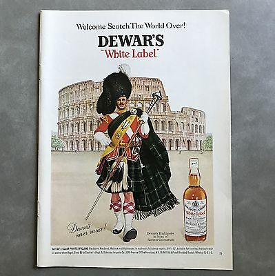 1966 to 1969 Dewars White Label Scotch Whisky Vintage Photo Print Ad Lot of 3