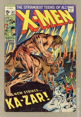 Uncanny X-Men (1963 1st Series) #62 GD+ 2.5