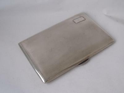 Smart Large Heavy Solid Sterling Silver Cigarette Case 1946/ L 12.5 cm/ 177 g