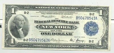 $1 Series 1918 Federal Reserve Banknote high end VF-XF, with embossing