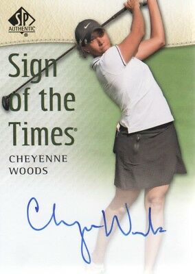 2014 SP Authentic Sign of the Times Golf Card #SOTTCW Cheyenne Woods Auto