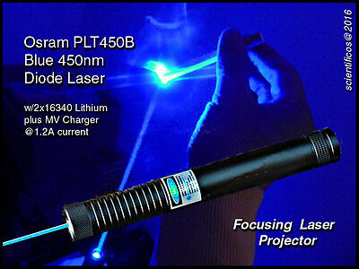 Engineering/Construction BLUE LASER w/Focusing / MV Charger +2 Lithium Batteries