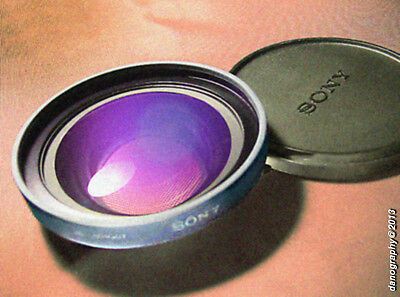 Sony 52mm Multicoated 0.7X Wide Angle Camcorder Auxiliary Lens VCL-MHG07