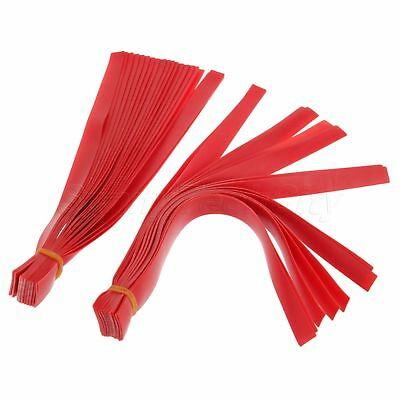 Red Slingshot Flat Rubber Band Catapult Replacement Hunting Accessories 10Pcs