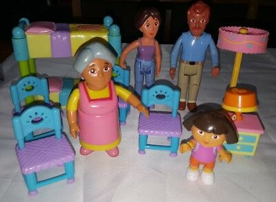 11 Lot Mattel Dora The Explorer Playset - Dolls & Furniture Dora Mom Dad Grandma