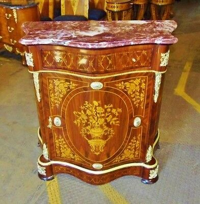Gorgeous Red Marble top Quality Louis XV style commode