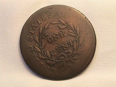 1796  Draped Bust Large Cent. Reverse of 1795!