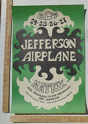 Jefferson Airplane AOR 2.112 Concert Poster Matrix San Francisco 1966